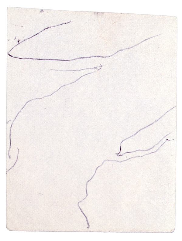 Line drawings by O'Keeffe, inspired by the views of the earth and rivers as seen from the sky
