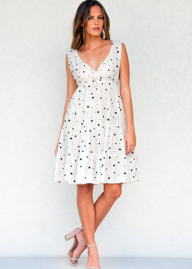 Star Power White Dove - Ruby Dress