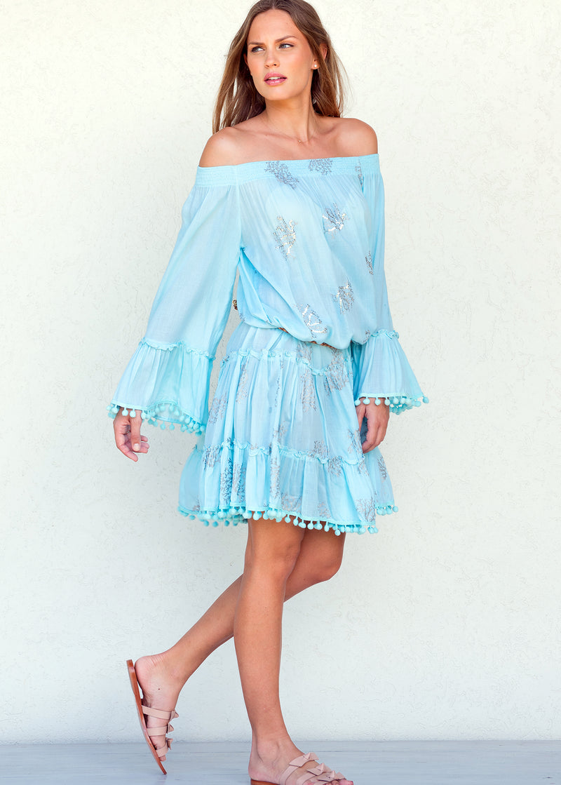 Coral Reef Ocean - Nanette Tiered Tunic