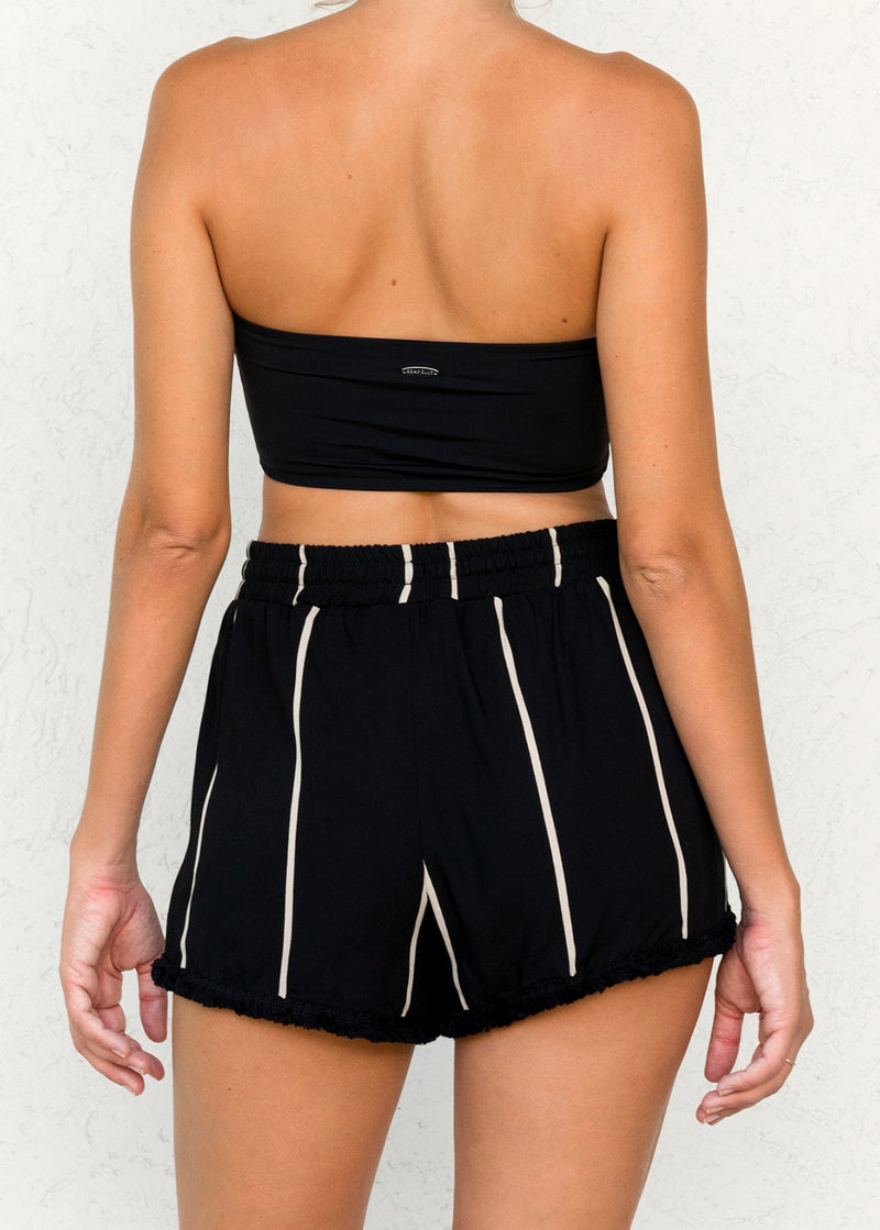 Ocean Stripe Black - Rouge Shorts