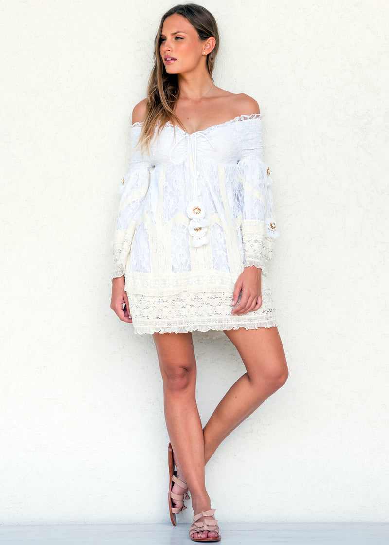 White Lapis Dress