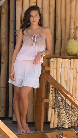 NURA BEACH DRESS OMBRE ROSA CHOCOLATE