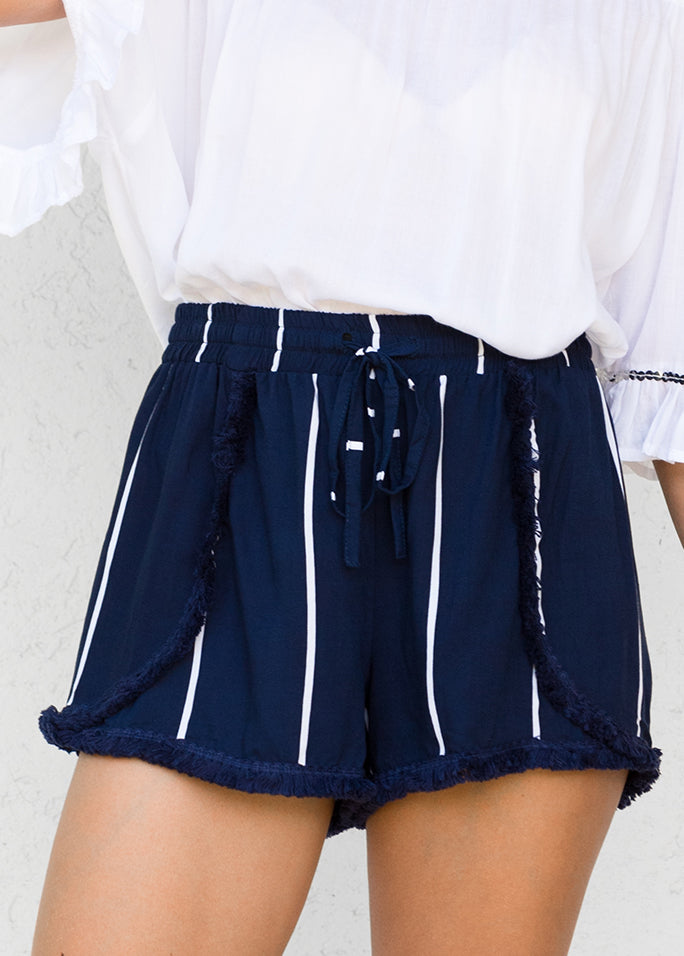 Ocean Stripe Indigo - Rouge Shorts