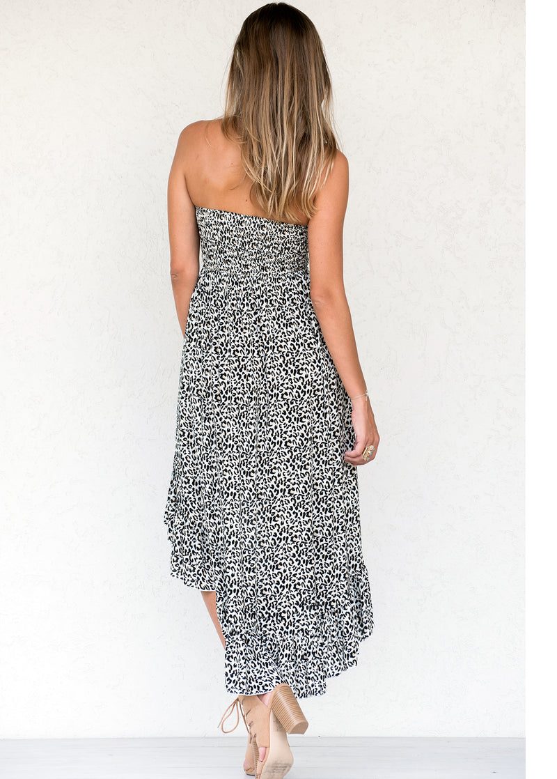 Cougar Print - Astrid High-Low Midi