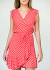 Polka Dot Calypso Red - Soca Wrap Dress