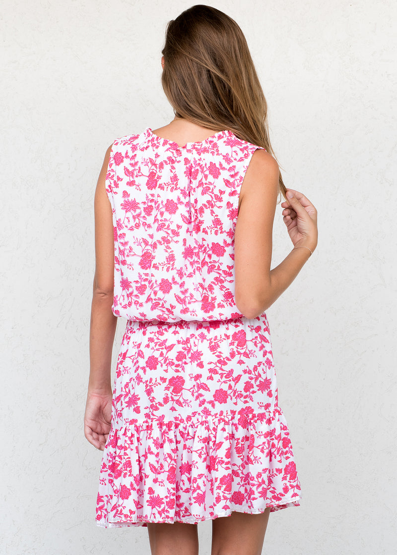 Bali Flower Cerise - Amelia Dress