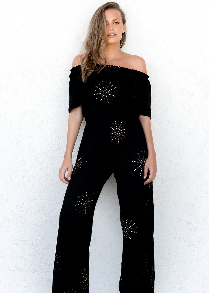 BRIDGETTE JUMPSUIT PIP'S STAR BLACK