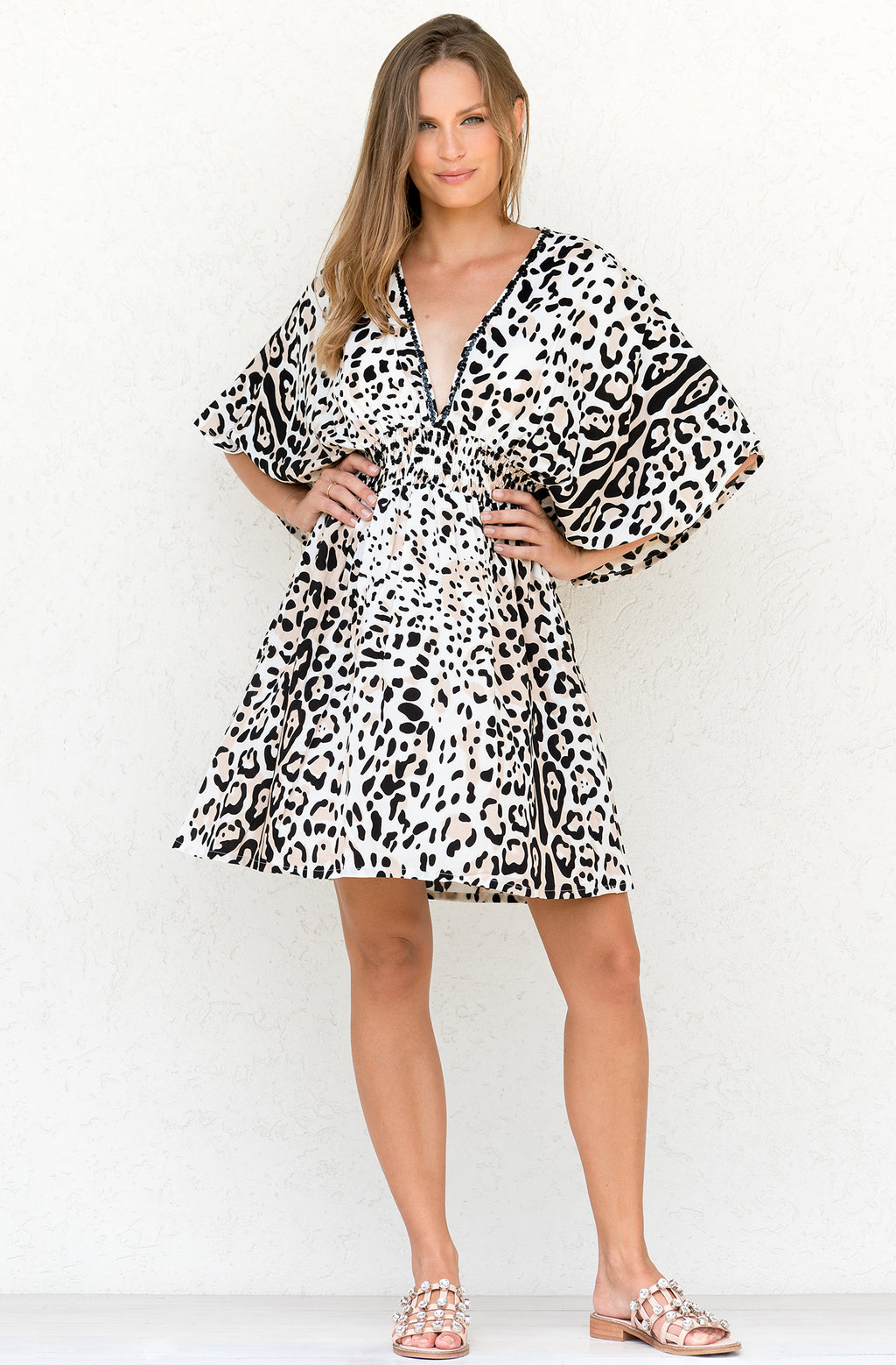 ZAHARA DRESS LEOPARD BISCUIT
