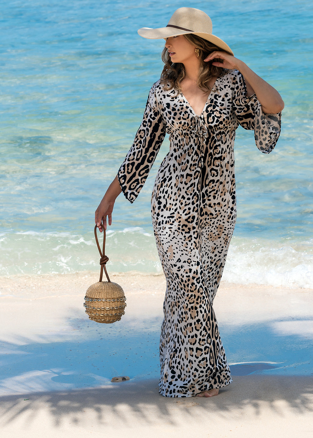 CHARLOTTE MAXI LEOPARD BISCUIT