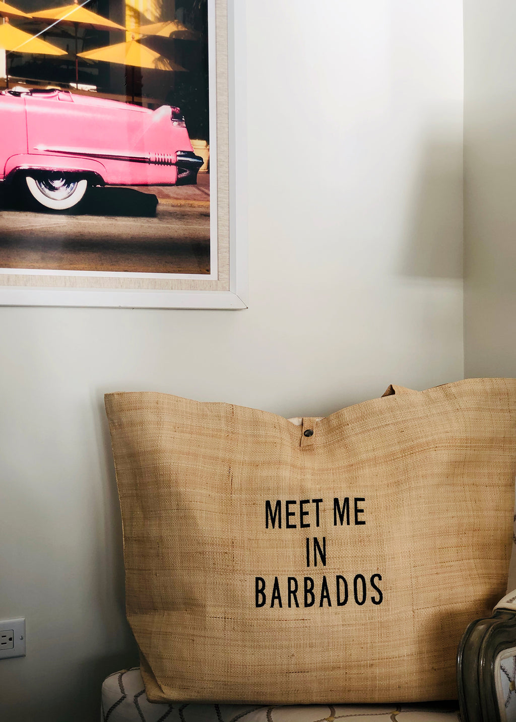 MEET ME IN BARBADOS JUMBO TOTE