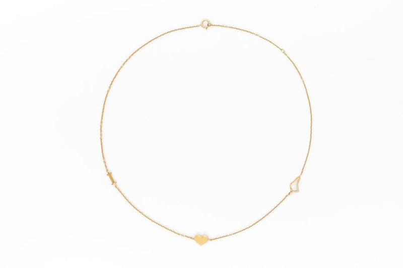 I Love Barbados Choker - Gold Vermeil