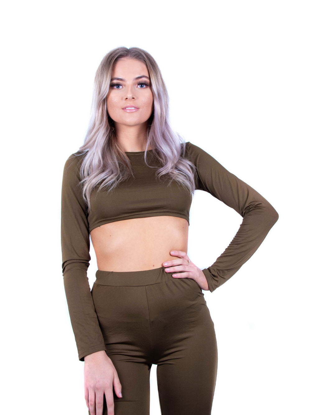 Kira Slinky Crop Top & Leggings Set