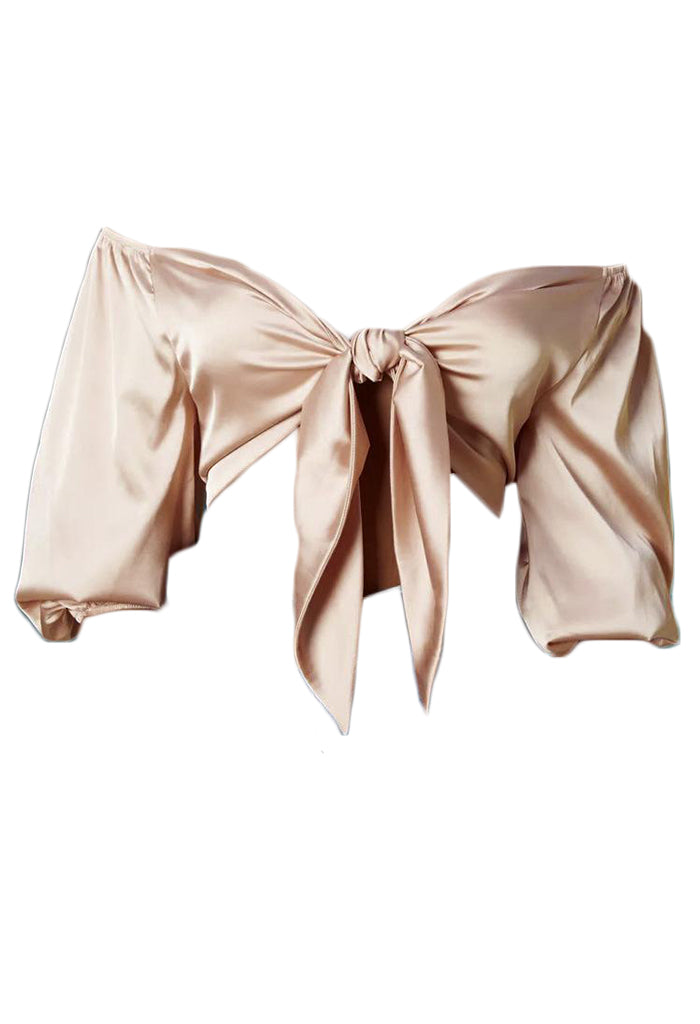 Anna Satin Tie Crop top