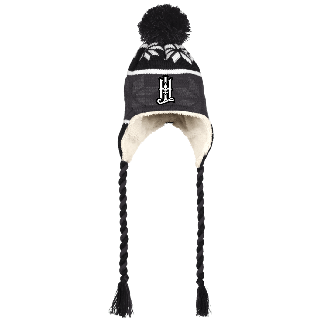 HLR Holloway Hat with Ear Flaps and Braids