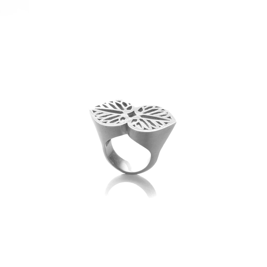 DOUBLE LEAF RING | ANILLO DOBLE HOJA