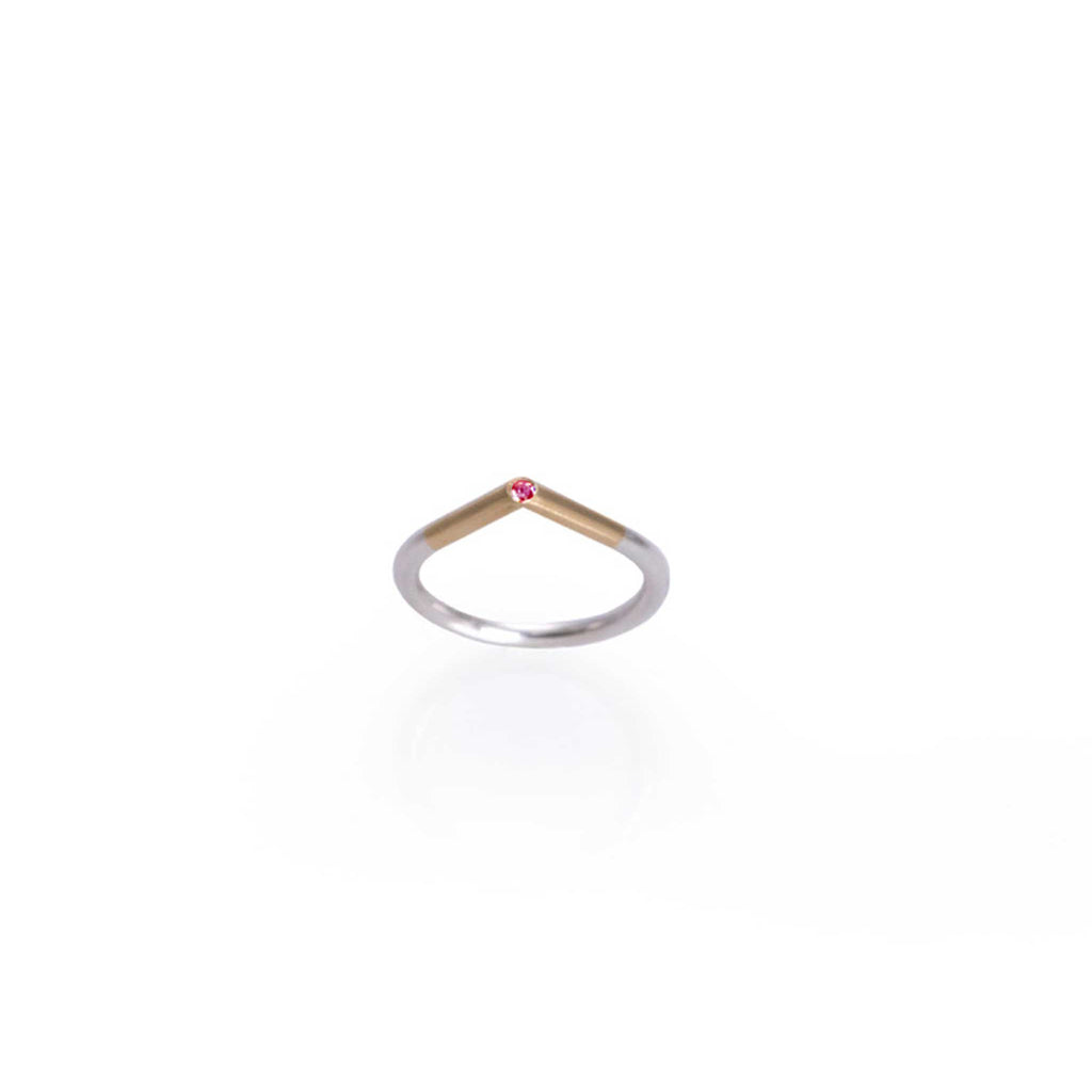 GOLD, SILVER, RUBY RING | ANILLO ORO, PLATA, RUBI