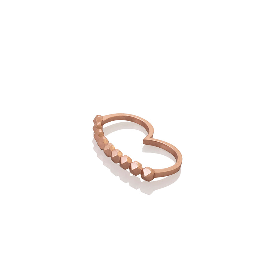 DOUBLE FALANGE STUDS RING | ANILLO DOBLE FALANGE TACHES