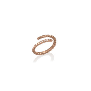 SPIRAL SERPENT RING WITH DIAMONDS | ANILLO SERPIENTE ESPIRAL DIAMANTES NEGROS