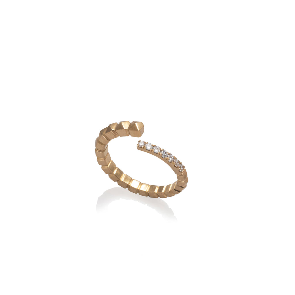 SNAIL STUDS RING | ANILLO CARACOL TACHES