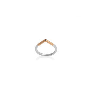 GOLD, SILVER, BLACK DIAMOND RING | ANILLO ORO, PLATA, DIAMANTE NEGRO