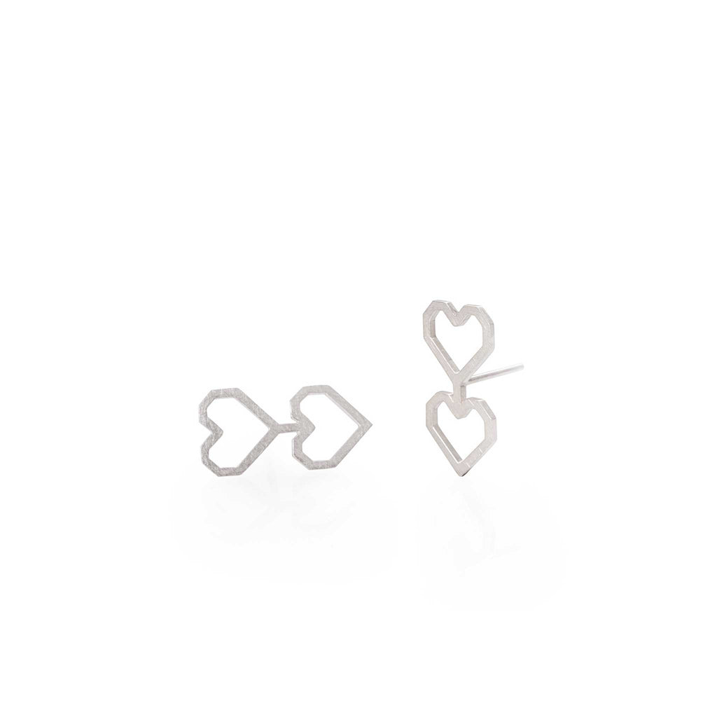 TWO HEARTS EARRINGS | ARETES DOS CORAZONES