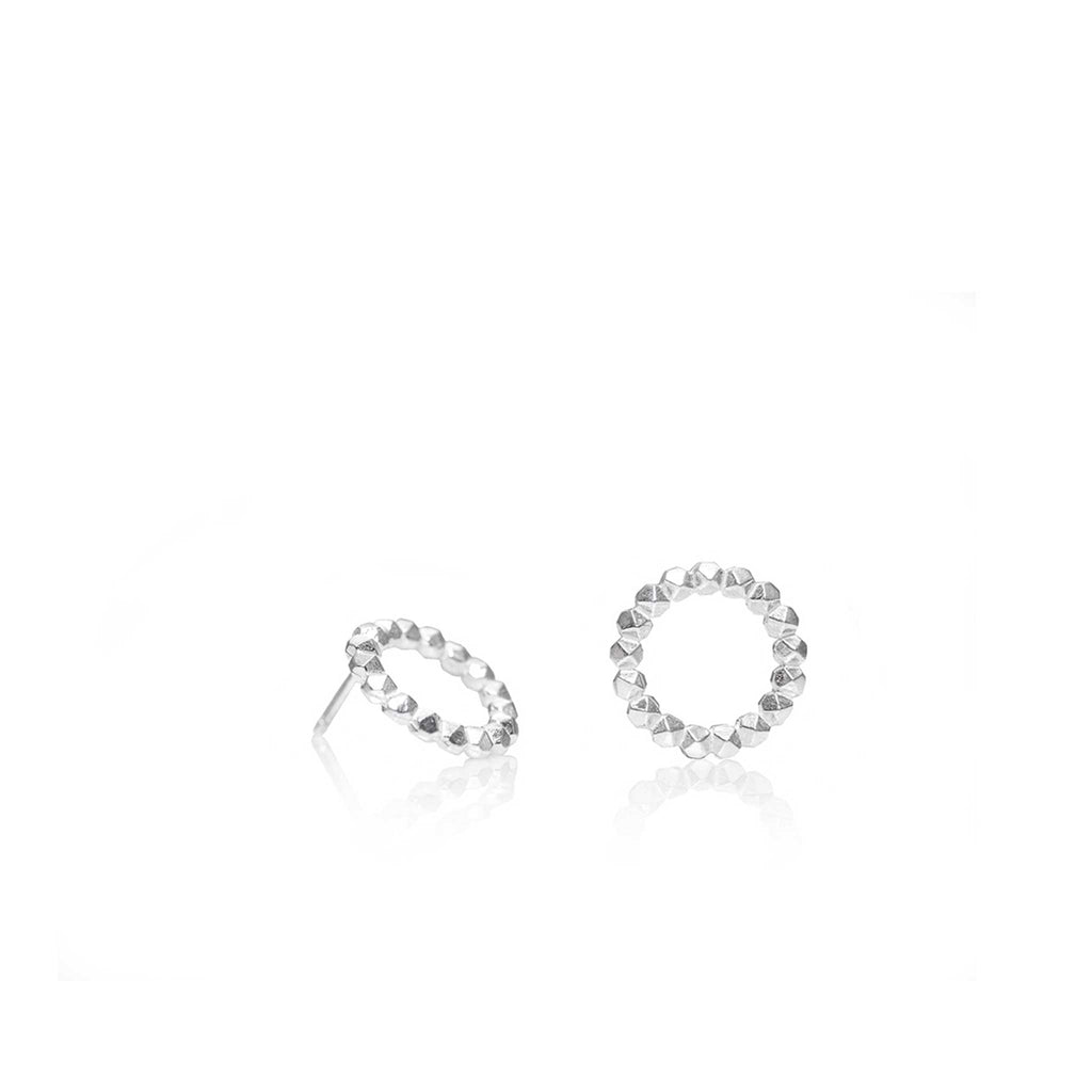 FACET EARRINGS 15MM | ARETES FACET 15MM