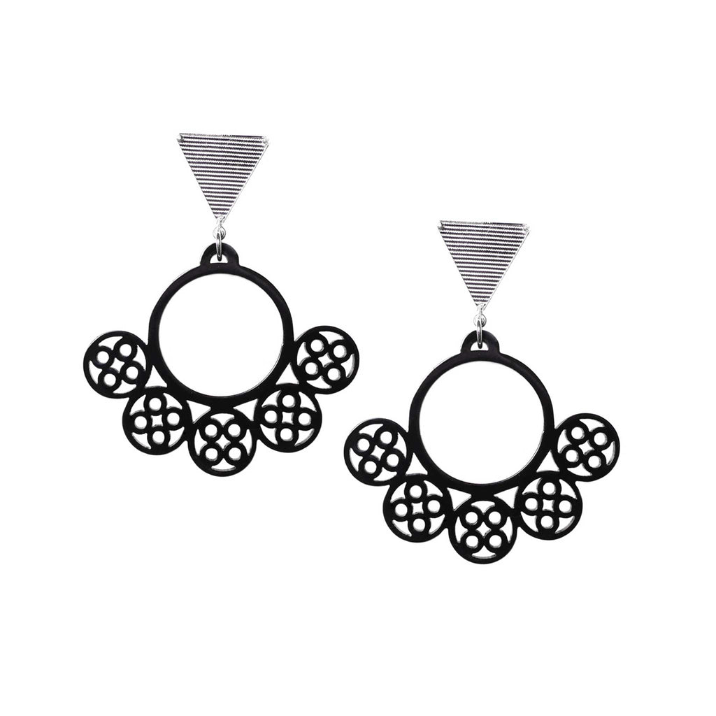 PRE-COLUMBIAN NARIGUERA EARRINGS BLACK | ARETES NARIGUERA PRECOLOMBINA NEGRO