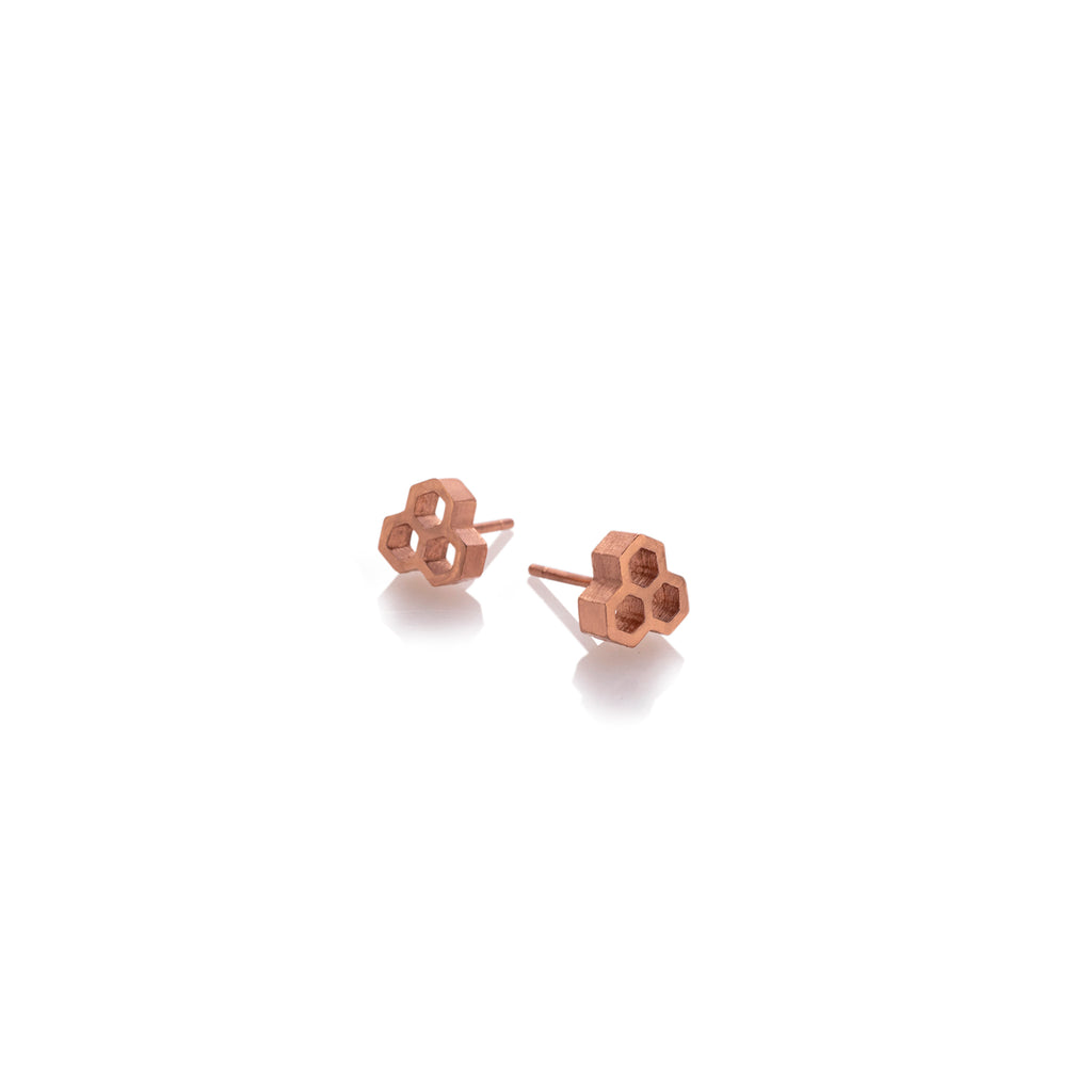 BEEHIVE EARRINGS | ARETES COLMENA