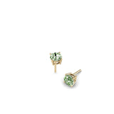 ROUND GREEN QUARTZ EARRINGS | ARETES CUARZO VERDE REDONDO