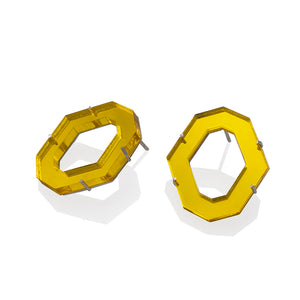 MEDIUM HEXAGON EARRINGS | ARETES HEXAGONO MEDIANOS