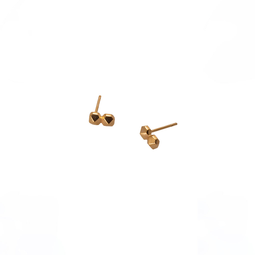 STUDS EARRINGS DOUBLE | ARETES TACHES DOBLE