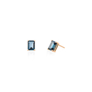 OCTAGON LONDON TOPAZ EARRINGS 8X6MM  | ARETES TOPACIO LONDON OCTAGON 8X6MM