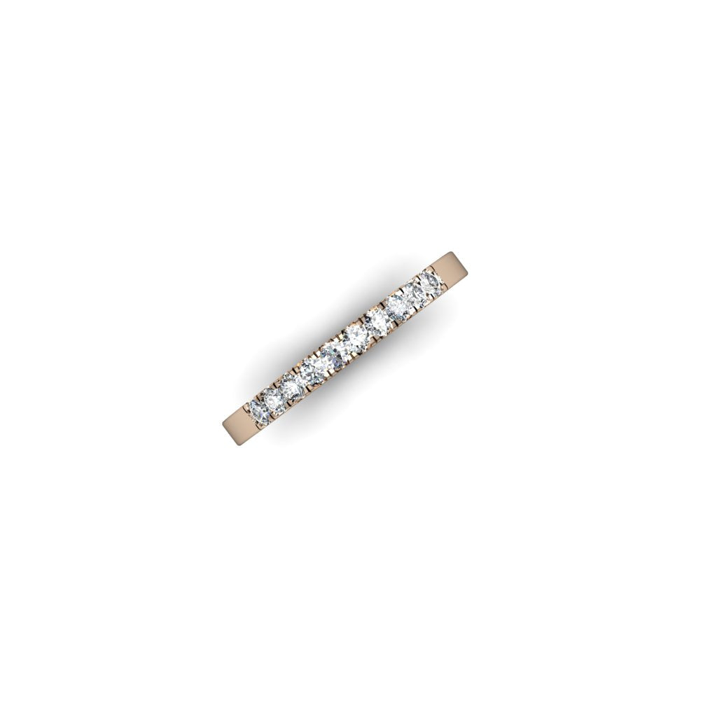 ROSE GOLD BAND WITH DIAMONDS | ARGOLLA DE ORO ROSADO CON DIAMANTES