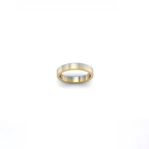 YELLOW AND WHITE GOLD BAND | ARGOLLA DE ORO AMARILLO Y BLANCO