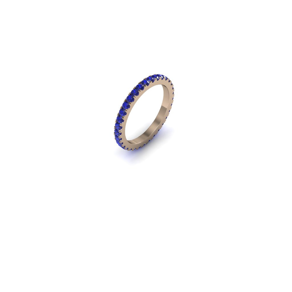 ETERNITY SAPPHIRE AND ROSE GOLD BAND | ARGOLLA SIN FIN DE ORO ROSADO CON ZAFIROS