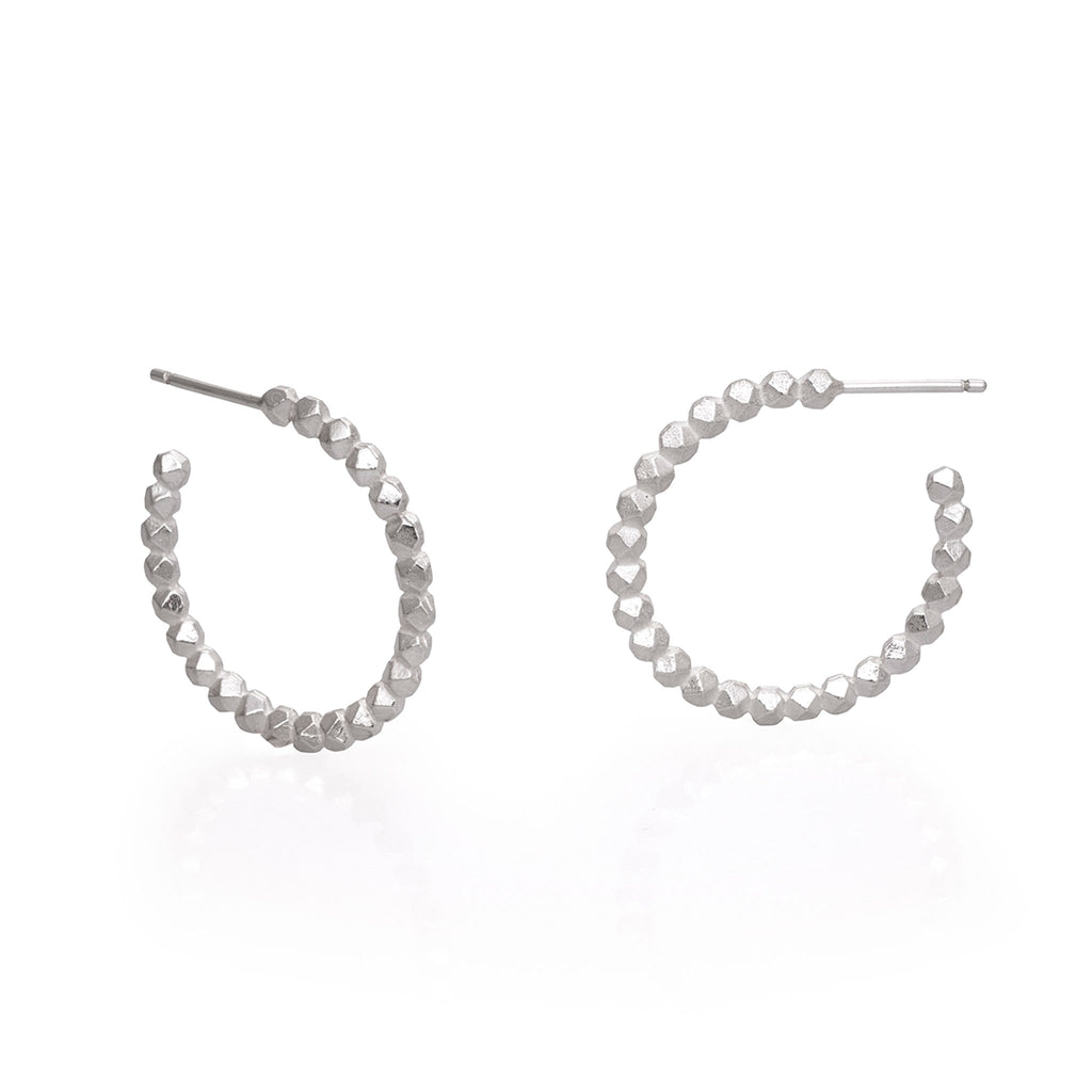 HOOP EARRINGS FACET 28MM| CANDONGAS FACET 28MM