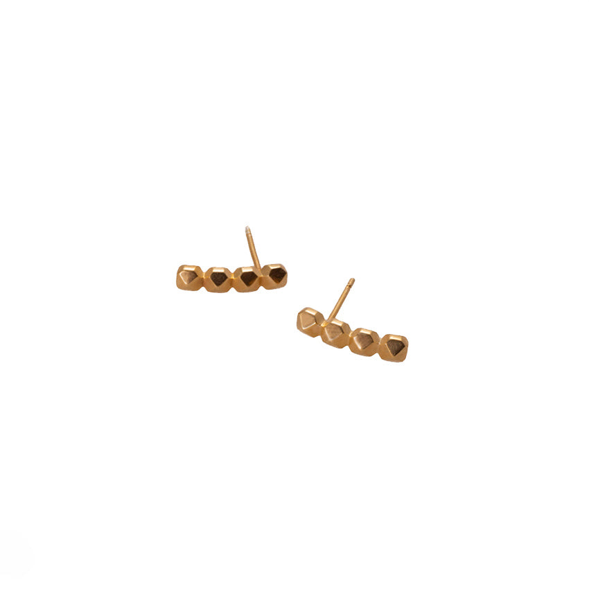 STUDS EARRINGS LONG | ARETES TACHES LARGO