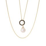 PEARL THROUGH CIRCLE PENDANT | DIJE PERLA ATRAVÉS DEL CÍRCULO