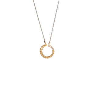 STUDS CIRCLE PENDANT WITH DIAMONDS | DIJE CÍRCULO TACHES CON DIAMANTES