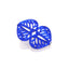 MIRRORED LEAF BROOCH BLUE  | BROCHE HOJA ESPEJO AZUL