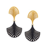 DECO PALM PENDANTS | PENDIENTES PALMA DECO
