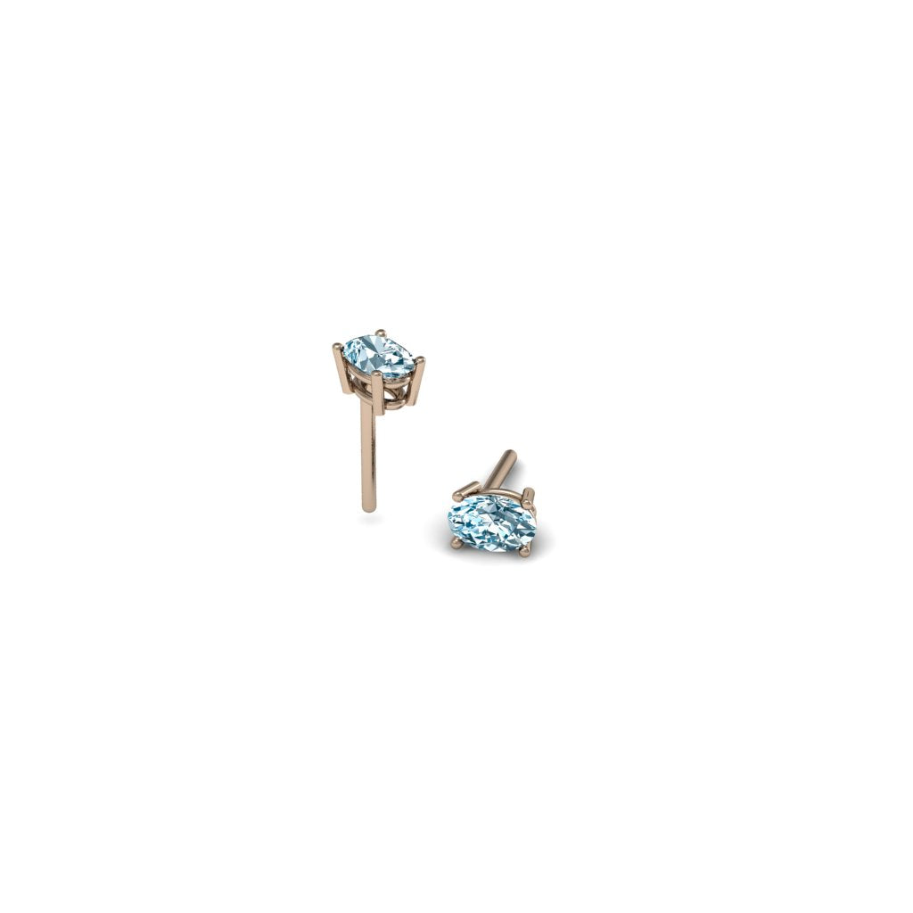 OVAL AQUAMARINE EARRINGS | ARETES CON AGUAMARINAS OVALADAS