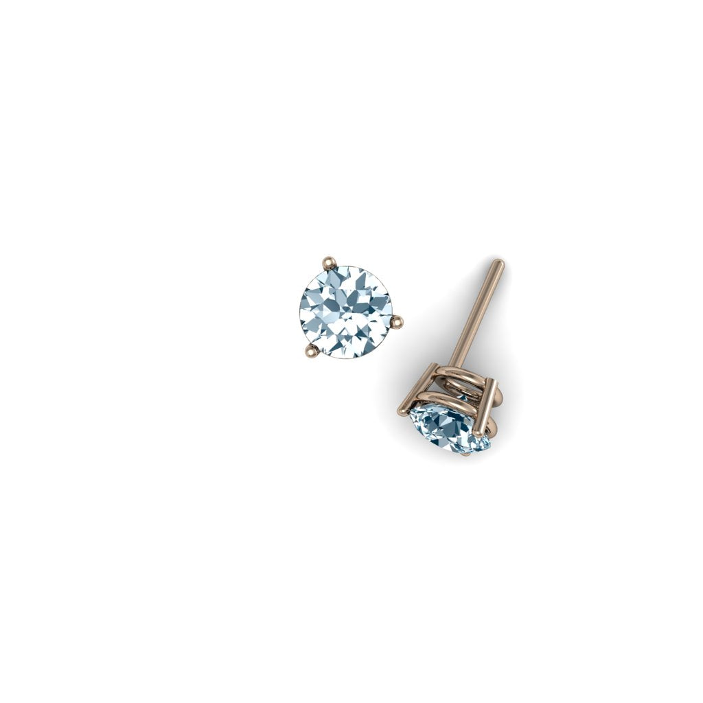 ROUND AQUAMARINE EARRINGS | ARETES CON AGUAMARINAS REDONDAS