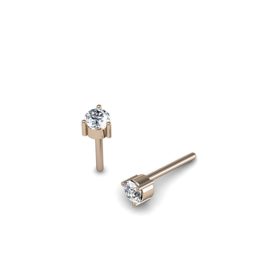 DIAMOND STUDS 0.10CT ROSE GOLD | ARETES DE DIAMANTE DE 0.10CT EN ORO ROSADO