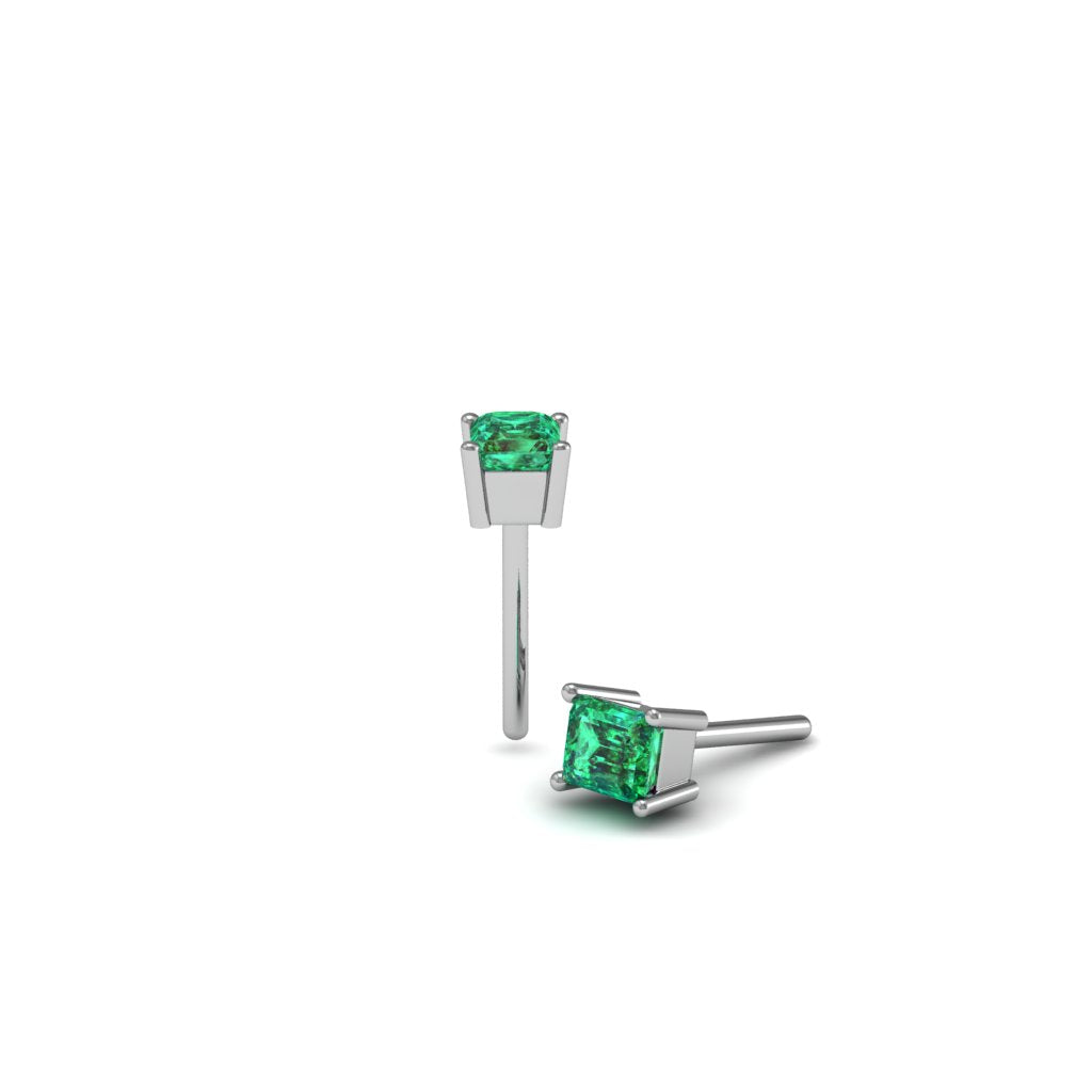 OCTAGON EMERALD EARRINGS | ARETES CON ESMERALDAS OCTÁGONO