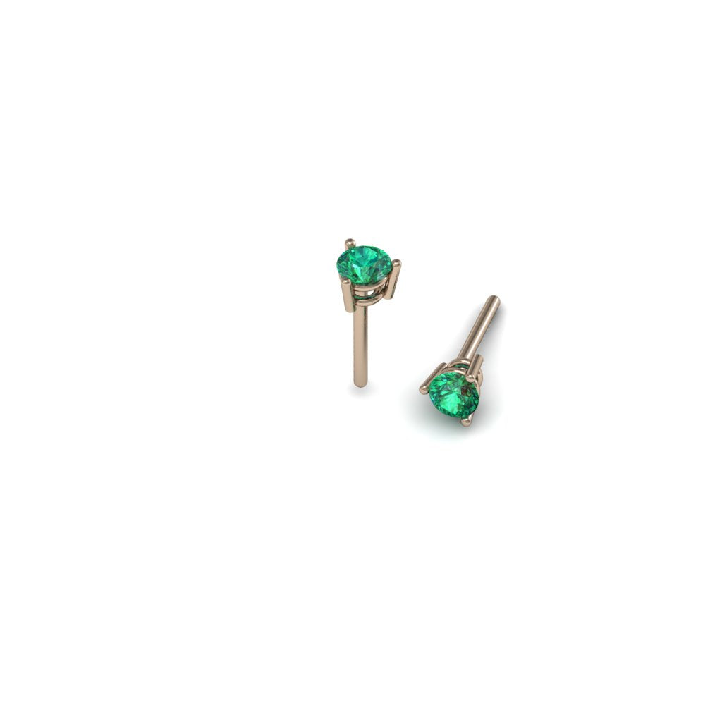 ROUND EMERALD EARRINGS | ARETES CON ESMERALDAS REDONDAS