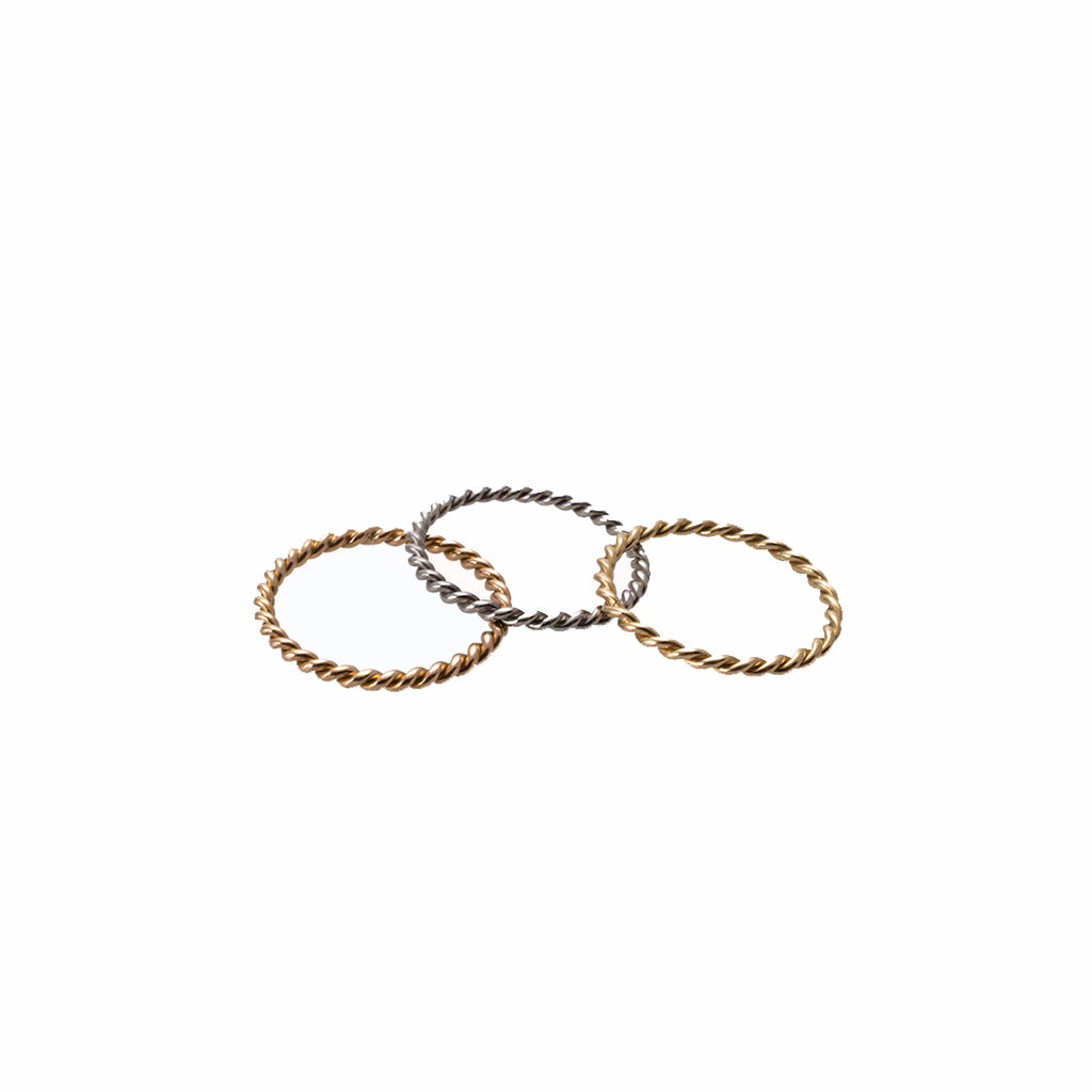 THREE BRAIDED RINGS | TRES ARGOLLAS ENTORCHADAS