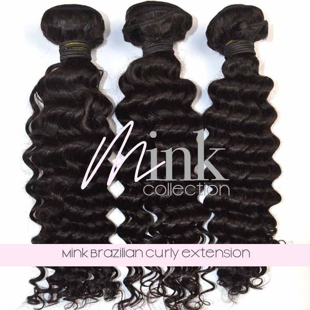 Mink Brazilian Curly Extensions