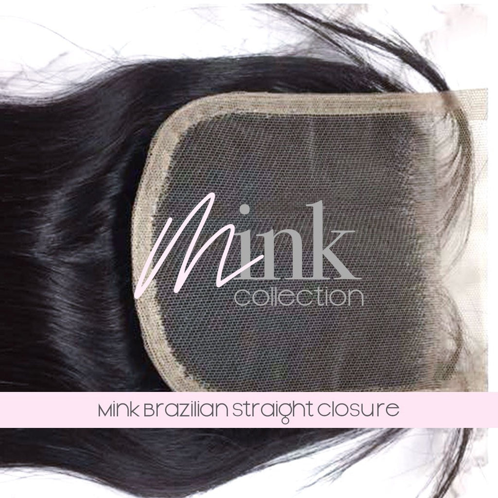 Mink Brazilian Straight Closure