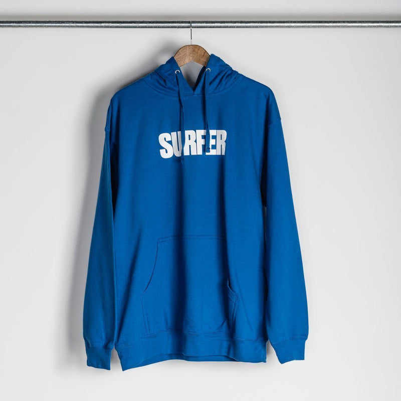 SURFER Sweatshirts - SURFER Pull Over Hoodie - Royal blue with white Surfer logo on chest
